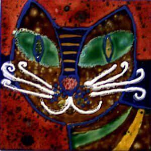 abstrakte Fliesenmalerei und Fliesenbilder für die Fliesenwand oder zur Dekoration