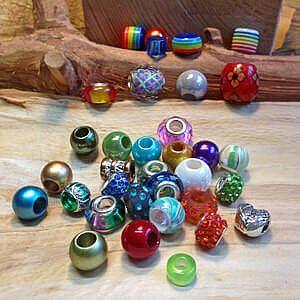 Modularperlen für Modulsysteme, Perlen mit grossem Loch