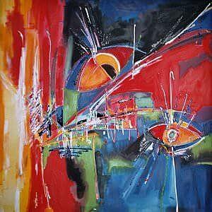 moderne Seidenmalerei als Bild für die Dekoration von Wänden