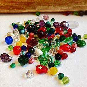 Glasperlen und Glastropfen geschliffen und facettiert