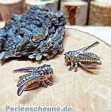1 großer 3D Kettenanhänger Insekt silber antik 24 x 14 mm