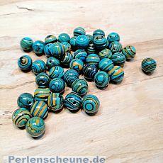 40 Halbedelsteinperlen Malachite türkisblau 4 mm