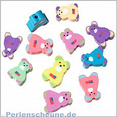 10 Teddy Bären polymer clay Kinder Perlen 12 mm