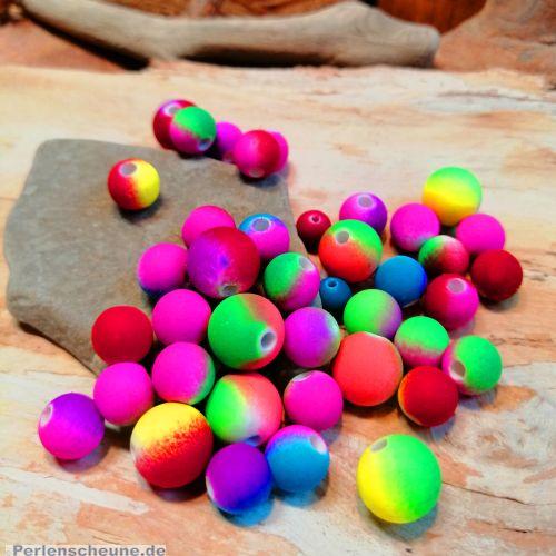 30 Perlen Neonfarben Perlenmischung 6,8,10 mm