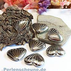 6 antik silberne Perlen Herzen 22 x 17 x 7 mm Silberhochzeit