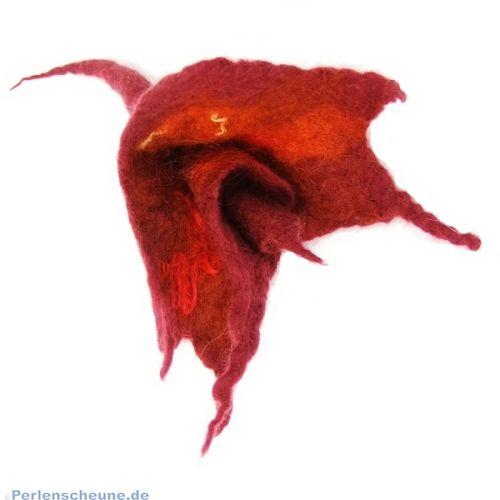 Handgefilzte Brosche Blüte