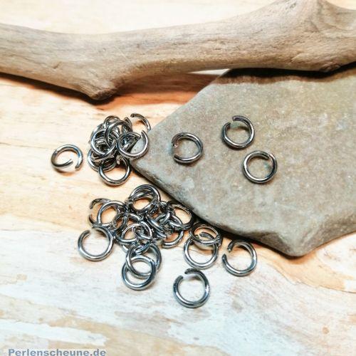 25 feste Edelstahl Binderinge Spaltringe 4 mm