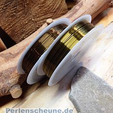 1 Rolle Schmuckdraht in antik bronze 7 m 0,5 mm