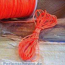 10 m abgemetert Perlschnur 0,8 mm neon orange
