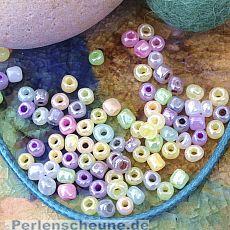 20 g Rocailles in Pastellfarben Mix 3-4 mm