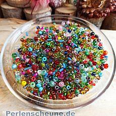 20 g Glas Rocailles bunte Farben 2 - 5 mm