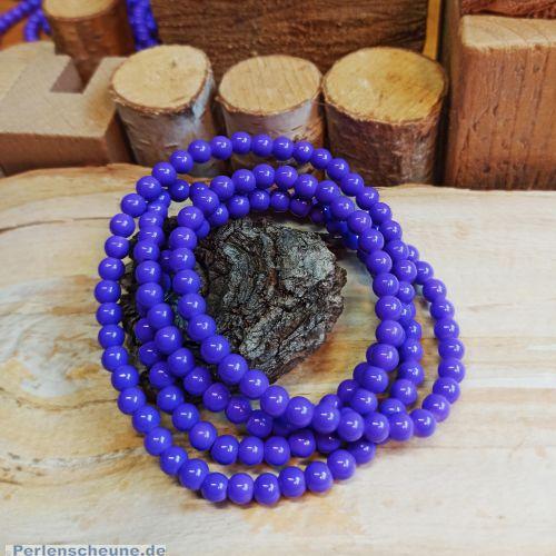 Perlenset 50 Glasperlen opak 4 mm lila violett