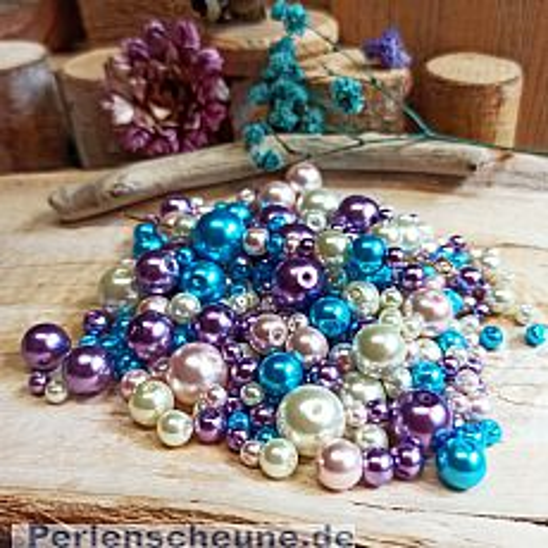 Perlenset 100 g Glaswachsperlen Mix 6 - 10 mm