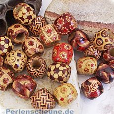 20 Indianerperlen Holzperlen Tonne Kinderperlen 16 mm