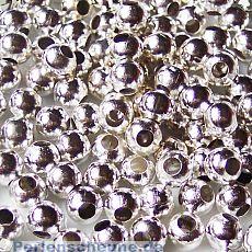 Set mit 20 Perlen Metallspacer 8 mm silber