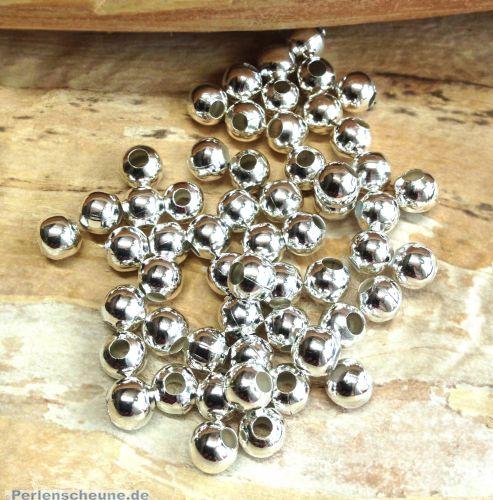 30 Metallperlen Metallspacer 6 mm silber