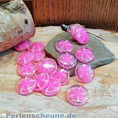 30 schöne Lucite Blumen Perlen Anhänger rosa 16 mm