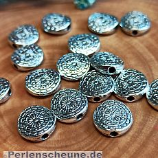 10 antik silber Metallperlen Spacer Blumen 10 mm