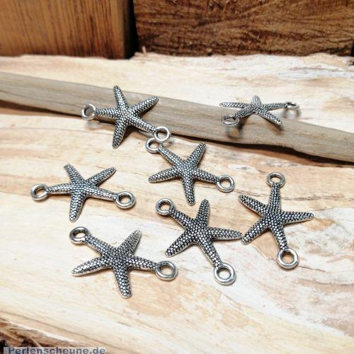 1 Metallverbinder Stern antik silber 33 mm