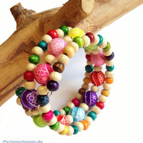 fröhliches Sommerarmband für Kinder 3 reihig