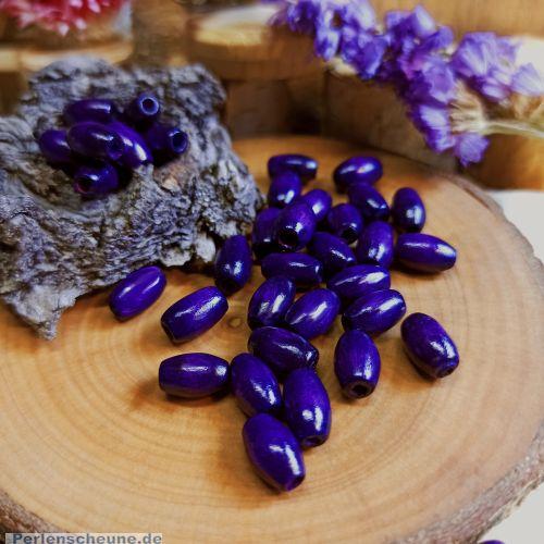 50 Kinderperlen Holzperlen violett 10 mm Olive