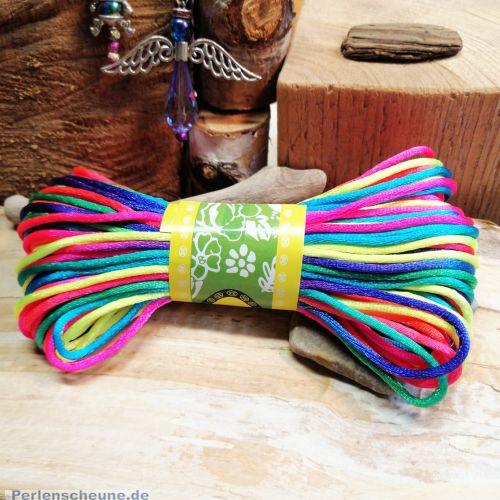 20 m Perlschnur Bastelschnur 2,5 mm Neonfarben Freundschaftsarmband