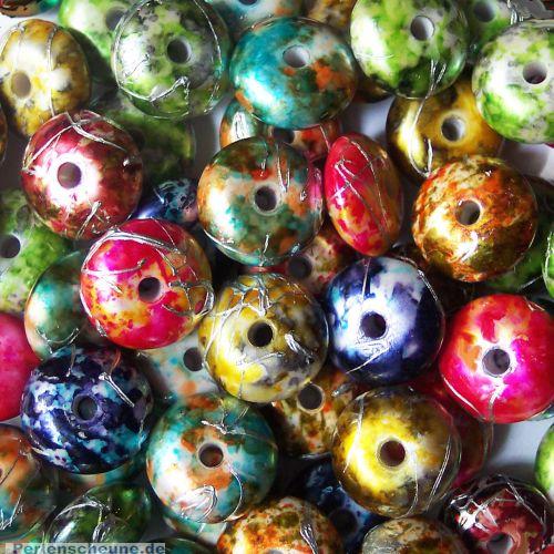 Perlenset 10 schöne große Draw Bench Perlen 18 mm