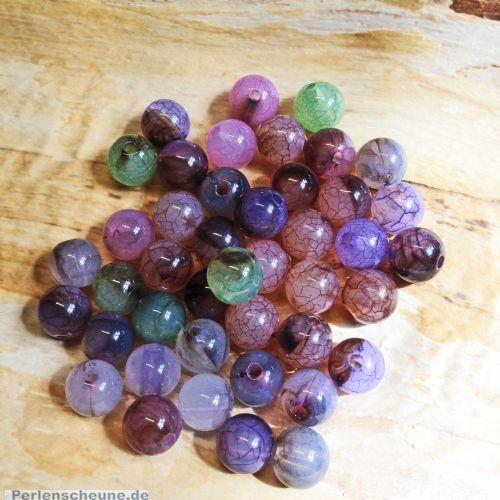 15 Edelsteineffektperlen Acryl marmoriert Farbmix