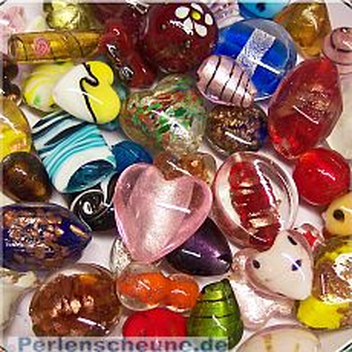 große Glasperlen handmade