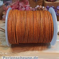 1 m Vintage Lederschnur Lederband 2 mm Holzbraun Lederschnüre