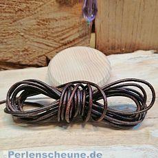 1 m Lederschnur Lederband 1,5 mm dunkelbraun natur Lederschnüre