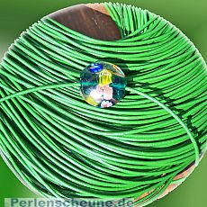 1 m Lederschnur Lederband 1,5 mm grün Lederschnüre