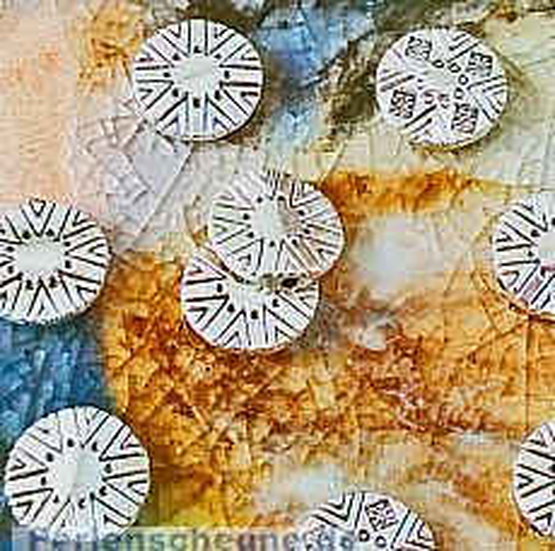Set 10 Metallperlen Metallspacer rund antiksilber 11 mm
