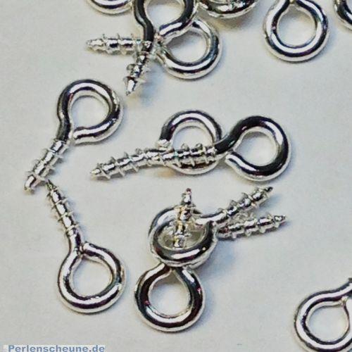 20 kleine Schrauben für Schmuck u.a. silber antik 8 mm