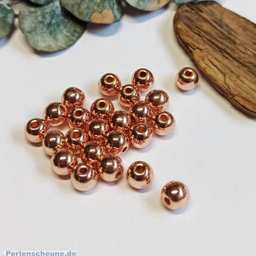 10 Hämatit Metallkugeln rosègold Spacerperlen 7 mm