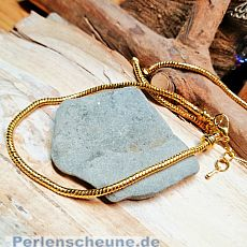 1 Modularmband Schlangenkette goldfarben 23 cm
