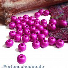 40 Hinoki Holzperlen in pink 9 mm Loch 2,5 mm