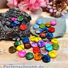 Perlenset 30 Rainbow Perlen 10 mm draw bench flach