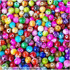 Perlenset 20 Rainbow Perlen 10 mm Kinderperlen