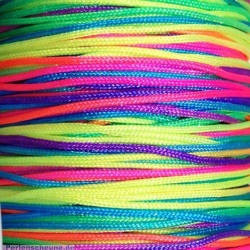 1 Rolle Perlschnur Bastelschnur 1 mm Neonfarben 35 m