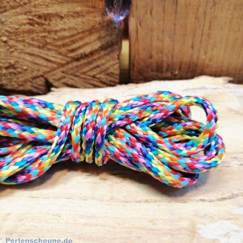 1 m Perlschnur Bastelschnur 4 mm Rainbow Cordel