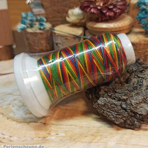 1 Rolle Perlschnur Baumwolle 0,8 mm Farbverlauf 50 m