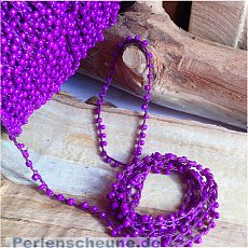 2 Meter Perlenfaden mit Rocaillesperlen lila violett 2 mm