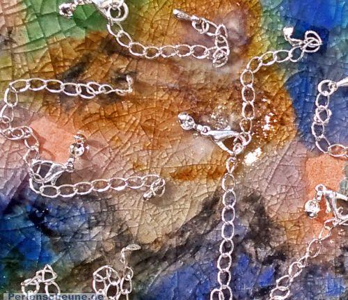 1 Komplettverschluß silber mit Fädelkarlotten