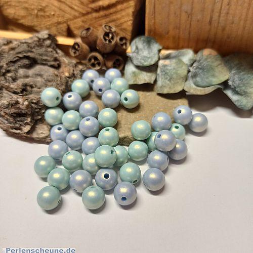 15 Silikonbeschichtete Perlen 10 mm pastell beige braun