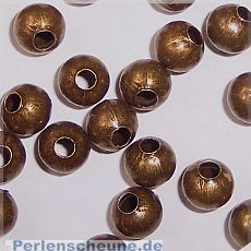 30 Metallperlen Metallspacer 6 mm bronze antik