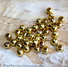 30 Metallperlen Metallspacer 6 mm gold