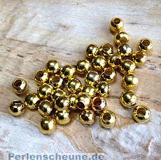 30 Metallperlen Metallspacer 6 mm gold