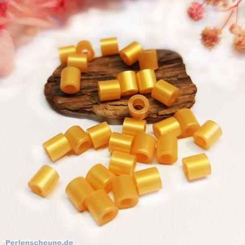 40 Acrylperlen Spacerperlen 5 x 5 mm goldfarben