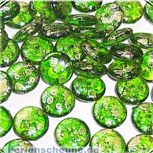 Perlenset 20 schöne fancy Acryl KinderPerlen grün 11 mm